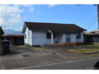 Wahiawa Single Family Home In Escrow Showing: 811 Ihiihi Avenue