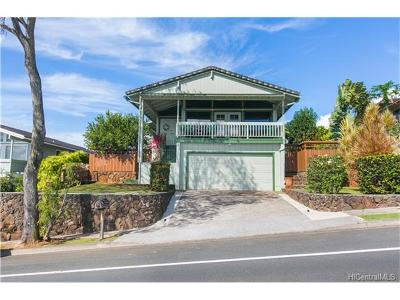 Aiea Single Family Home In Escrow Showing: 98-1746 Hapaki Street