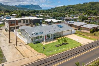 Single Family Home In Escrow Showing: 47-431 Ahuimanu Road