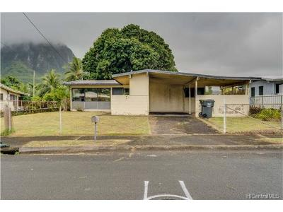 Kaneohe Single Family Home In Escrow Showing: 45-558 Alokahi Street