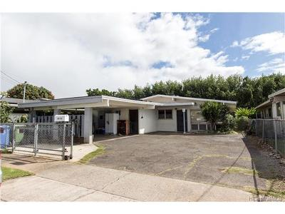 Aiea Single Family Home In Escrow Showing: 99-173 Ohekani Loop