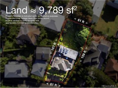 Honolulu Residential Lots & Land In Escrow Showing: 3353 Sierra Drive