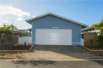 Waipahu Single Family Home In Escrow Showing: 94-489 Alapine Street