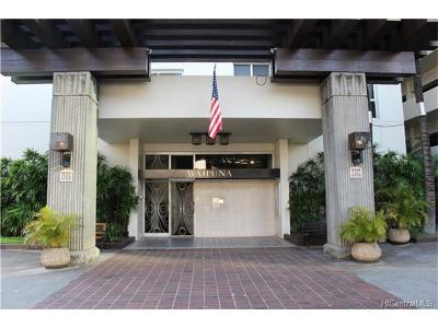 Honolulu Condo/Townhouse In Escrow Showing: 469 Ena Road #1208