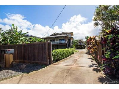 Haleiwa Single Family Home For Sale: 66-158 Haleiwa Road
