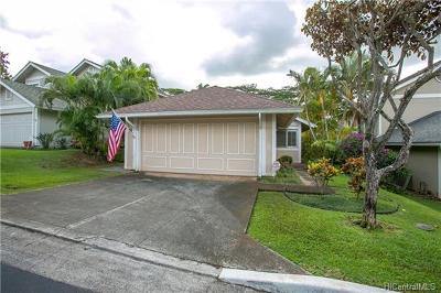 Aiea Single Family Home For Sale: 98-1951 Kaahumanu Street #B