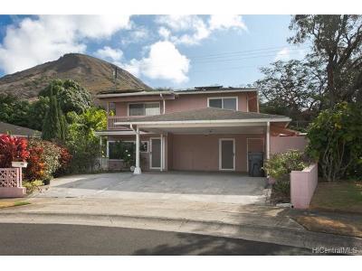 Single Family Home In Escrow Showing: 490 Kekupua Street