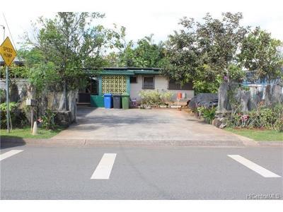 Wahiawa Single Family Home For Sale: 929 Lemiwai Street