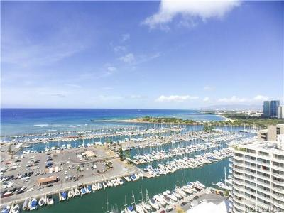 Honolulu Condo/Townhouse For Sale: 1777 Ala Moana Boulevard #2302