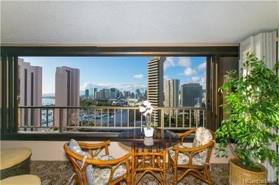 Honolulu Condo/Townhouse For Sale: 1778 Ala Moana Boulevard #2704