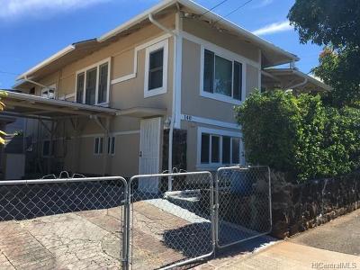 Honolulu Single Family Home In Escrow Showing: 140 S Kuakini Street