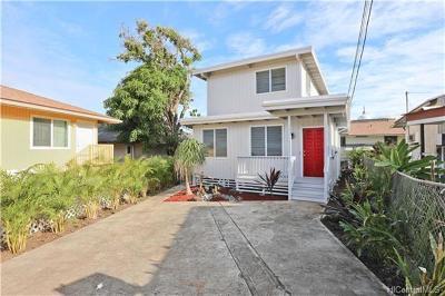 Honolulu Single Family Home For Sale: 1666 Lusitana Street #D