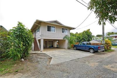 Single Family Home For Sale: 465a Kawailoa Road
