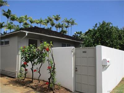 Hawaii County, Honolulu County Rental For Rent: 903 Kealaolu Avenue