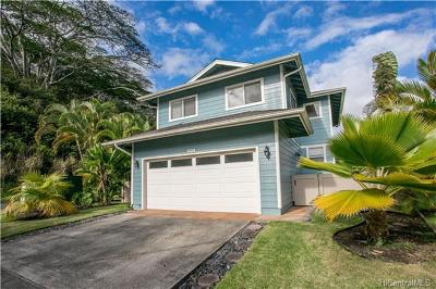 Mililani Single Family Home In Escrow Showing: 95-1037 Wikao Street #43