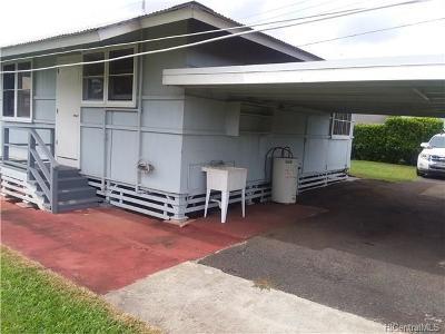 Wahiawa Single Family Home In Escrow Showing: 177 California Avenue