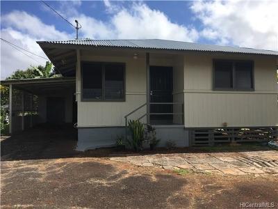 Wahiawa Single Family Home For Sale: 32a Nanea Avenue