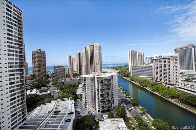 Hawaii County, Honolulu County Condo/Townhouse In Escrow Showing: 1717 Ala Wai Boulevard #2206