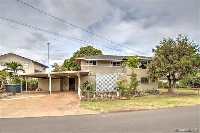 Aiea Single Family Home For Sale: 98-230 Oa Street