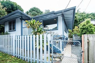 Honolulu Single Family Home In Escrow Showing: 2505-C Lai Road #2505C
