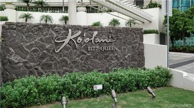 Honolulu County Condo/Townhouse For Sale: 1177 Queen Street #1007