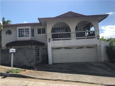 Aiea HI Single Family Home For Sale: $1,040,000