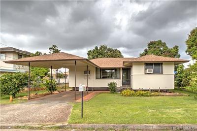 Waipahu Single Family Home In Escrow Showing: 94-089 Awamoku Street