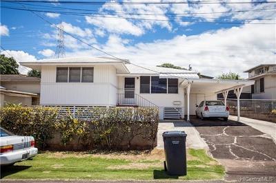 Pearl City Single Family Home For Sale: 1407 Hoohui Street