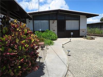 Waipahu Single Family Home In Escrow Showing: 94-416 Apowale Street