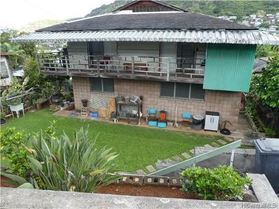 Honolulu Single Family Home In Escrow Showing: 2630 Kalihi Street
