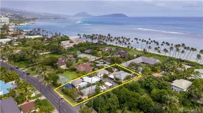 Hawaii County, Honolulu County Single Family Home For Sale: 4711 Kahala Avenue