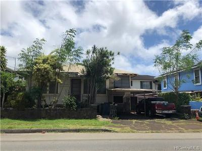Honolulu Single Family Home For Sale: 1407 Gulick Avenue