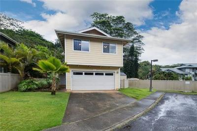 Mililani Single Family Home In Escrow Showing: 95-973 Wikao Street #12