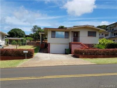 Aiea Single Family Home In Escrow Showing: 99-518 Aiea Heights Drive