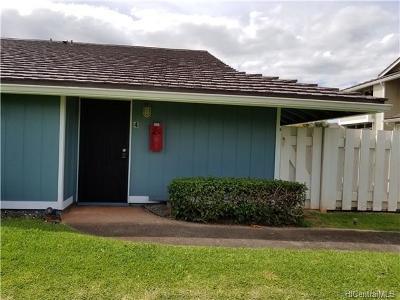 Waipahu Condo/Townhouse In Escrow Showing: 94-739 Paaono Street #F4