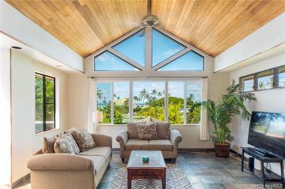 Kailua Single Family Home For Sale: 1341 Aalapapa Drive