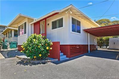 Honolulu Single Family Home For Sale: 1414 Pensacola Street #C