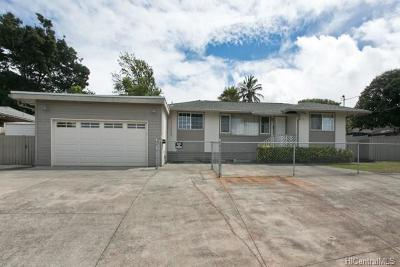 Aiea Single Family Home In Escrow Showing: 99-118 Napuanani Road