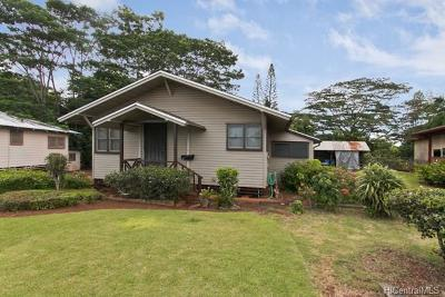 Wahiawa Single Family Home In Escrow Showing: 320 Circle Mauka Street