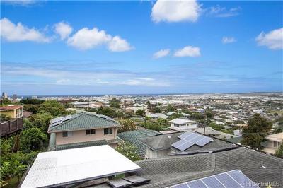 Honolulu Single Family Home In Escrow Showing: 1077 Ilima Drive