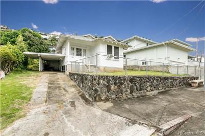 Honolulu Single Family Home In Escrow Showing: 2454 Kanealii Avenue