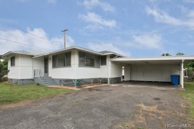 Aiea Single Family Home In Escrow Showing: 98-129 Kihale Place