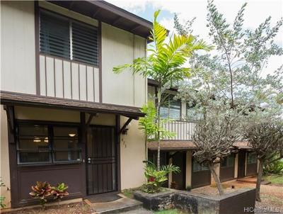 Mililani Condo/Townhouse In Escrow Showing: 94-1432 Lanikuhana Avenue #473