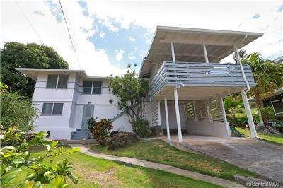 Honolulu Single Family Home In Escrow Showing: 2164 Hillcrest Street