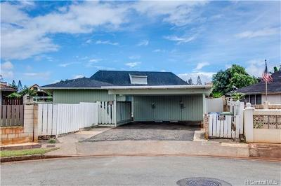 Mililani Single Family Home In Escrow Showing: 95-338 Makulu Place