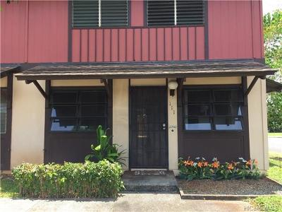 Mililani Condo/Townhouse For Sale: 94-067 Anania Drive #111