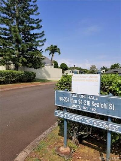 Mililani Condo/Townhouse For Sale: 94-212 Kealohi Street #178