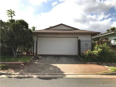 Waipahu Single Family Home In Escrow Showing: 94-1077 Kaaholo Street