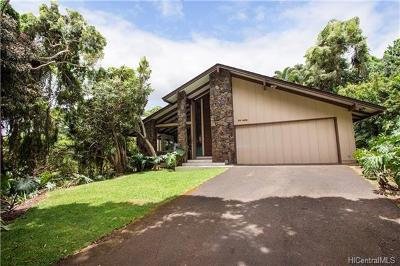 Aiea Single Family Home For Sale: 99-1654 Analio Place