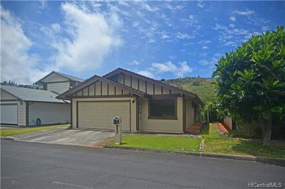 Aiea Single Family Home In Escrow Showing: 98-165 Lania Way